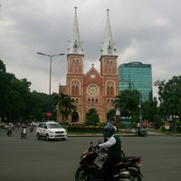 Photo taken at Saigon Notre-Dame Basilica by Alena B. on 11/4/2014