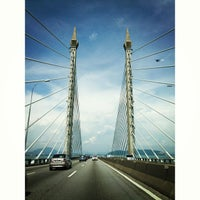 Photo taken at Penang Bridge by celeste p. on 5/1/2013