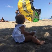 Photo taken at Heraklion Kite Beach by Marina J. on 8/24/2017