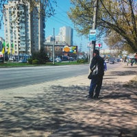 Photo taken at bus stop Makiivska St by Владимир С. on 4/16/2015