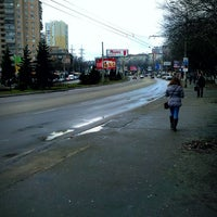 Photo taken at bus stop Makiivska St by Владимир С. on 2/17/2014