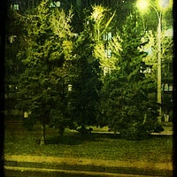 Photo taken at bus stop Makiivska St by Владимир С. on 3/1/2014