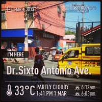 Photo taken at Dr. Sixto Antonio Ave by Tal D. on 3/1/2013
