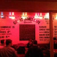 Photo taken at Great Jones Cafe by Brandon on 3/21/2013