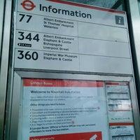 Photo taken at Bus Stop G (77, 87, 196 & N87) by nandibear on 12/24/2013