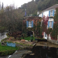 Photo taken at Le Moulin De L Abbaye Hotel Brantome by 777 on 10/26/2013