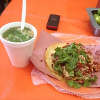 Photo taken at tacos de ahuja by Oscar S. on 9/20/2012