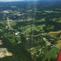Photo taken at Morrisville-Stowe State Airport (MVL) by Drew O. on 8/10/2013