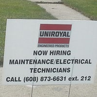 Photo taken at Uniroyal Global Engineered Products by Andrew B. on 11/15/2014
