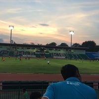 Photo taken at Surakul Sports Stadium by Vetaal B. on 5/1/2016