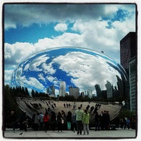 Photo taken at Cloud Gate by Anish Kapoor by Michael F. on 5/12/2013