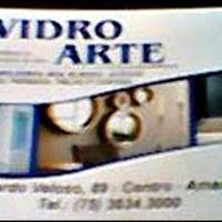 Photo taken at Vidraçaria Vidro Arte by Luciene V. on 10/28/2013