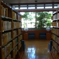 Photo taken at 白山市立 松任図書館 by みきーぬ¨̮ on 6/13/2014