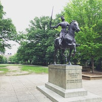 Photo taken at Joan of Arc Statue - Meridian Hill Park by Mantas V. on 6/5/2015