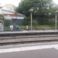 Photo taken at Station Suresnes – Longchamp [T2] by Ness O. on 6/28/2014