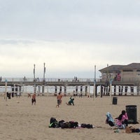 Photo taken at Huntington Beach Beach Volleyball Courts by Minh N. on 1/24/2014