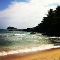 Photo taken at Barra do Sahy by Marcelo P. on 12/31/2012