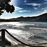 Photo taken at Barra do Sahy by Marcelo P. on 2/2/2013