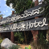 Photo taken at River Kwai Village Hotel Kanchanaburi by Lee on 11/5/2015