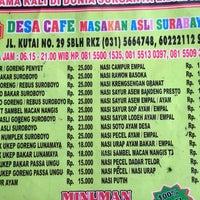 Photo taken at Desa Cafe by Indita Nabila A. on 4/24/2014