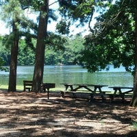 Photo taken at Trap Pond State Park by Christine D. on 7/6/2013