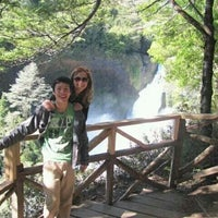 Photo taken at Salto Huilo Huilo by Angyy R. on 12/15/2013