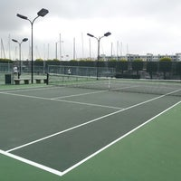Photo taken at Mariners Bay Tennis Courts by Garrett H. on 3/31/2013
