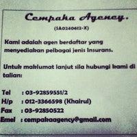 Photo taken at Cempaka Agency by Khairul Arif A. on 11/30/2012