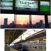 Photo taken at Nankai Tengachaya Station (NK05) by sachi on 5/14/2013