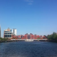 Photo taken at Salford Quays by Mateusz S. on 7/23/2014
