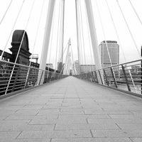 Photo taken at Hungerford & Golden Jubilee Bridges by Elliot R. on 5/20/2012
