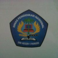 Photo taken at SMK Negeri 5 Manado by Novenita Sesilia M. on 9/11/2012