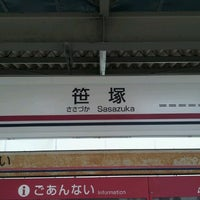 Photo taken at Sasazuka Station (KO04) by yasuzoh on 8/2/2012