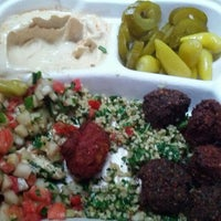 Photo taken at Taïm Falafel and Smoothie Bar by Noah W. on 7/28/2012