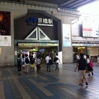 Photo taken at JR Kyobashi Station by 一二三 on 8/18/2012