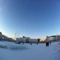 Photo taken at Площадь Ленина by A T. on 2/16/2012