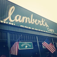 Photo taken at Lambert's Cafe by Ryan B. on 5/12/2012