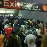 Photo taken at MTA Subway - Atlantic Ave/Barclays Center (B/D/N/Q/R/2/3/4/5) by Iris L. on 8/14/2012