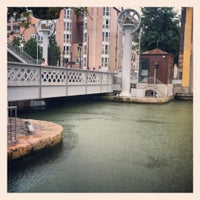 Photo taken at Canal de l'Ourcq by Guilherme P. on 6/9/2012