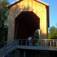Photo taken at Chambers Covered Bridge by Beth N. on 7/26/2012
