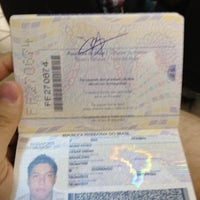 Photo taken at Policia Federal Passaporte by Cesar P. on 2/15/2012
