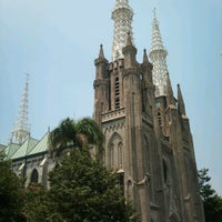 Photo taken at Gereja Katolik Katedral Jakarta by Eko Krist on 9/1/2012