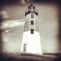 Photo taken at Point Judith Light House by Nathan B. on 7/10/2012