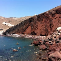 Photo taken at Red Beach by Christina B. on 7/28/2012