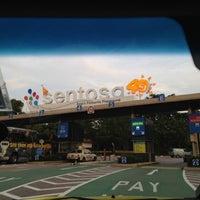 Photo taken at Sentosa Entrance Gantry by Khalphan A. on 5/15/2012