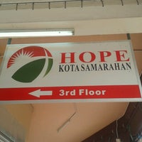 Photo taken at Hope Samarahan by Ms.Tinnie T. on 8/26/2012
