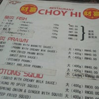 Photo taken at Choy Hi Restaurant by WH on 8/20/2012