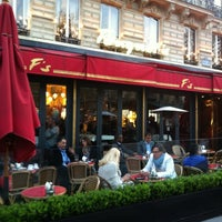 Photo taken at Le Fouquet's by Stéphanie P. on 3/30/2012