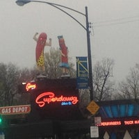 Photo taken at Superdawg Drive-In by Cicco S. on 4/1/2012