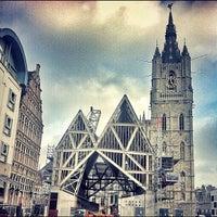 Photo taken at Goudenleeuwplein by Jorn U. on 3/10/2012